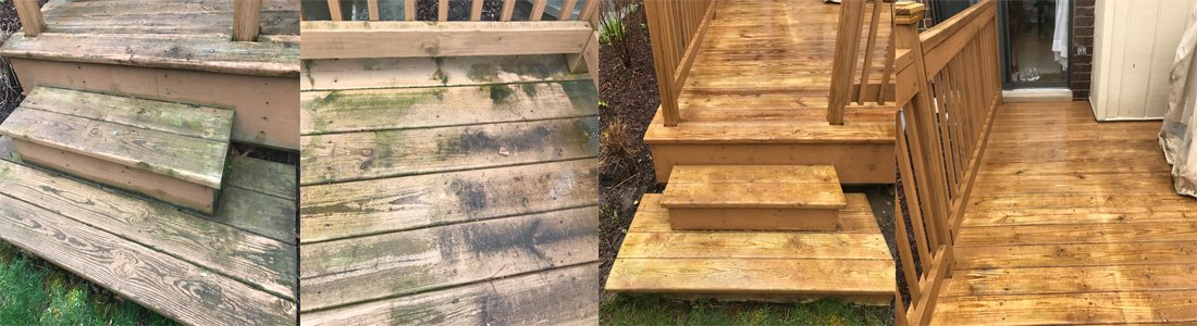 Wooden Deck Power Washing Hinsdale