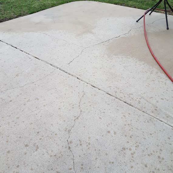 Concrete power washing chicago
