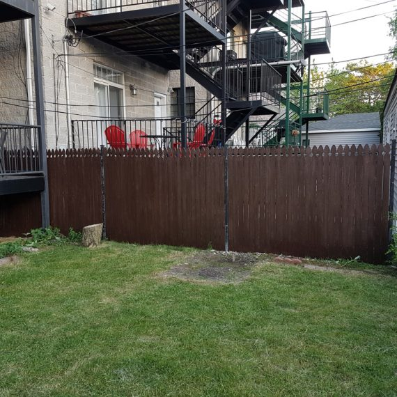 Chicago fence staining